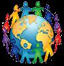 people holding hands around world